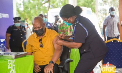 """, """"I agreed to take the vaccine publicly, to encourage and assure all Ghanaians that the vaccines are safe"""" – John Mahama, Frederick Nuetei"""