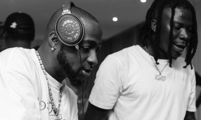 , Stonebwoy link up with Davido inside his Banana Island mansion; fans express excitement over move, Frederick Nuetei