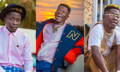 , Shatta Wale sprays cash on staff and panelists during a surprise visit to Zylofon FM, Frederick Nuetei