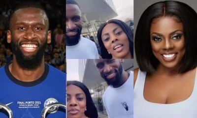 , Nana Aba Anamoah hangs out with Chelsea's Antonio Rudiger in Accra; fun video drops, Frederick Nuetei