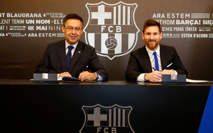 , Lionel Messi signs new five-year contract deal with Barcelona, Frederick Nuetei