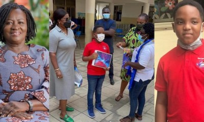 , Photos: Prof Jane Naana Opoku-Agyemang presents iPad Pro to Oswald at his 'Our Day', Frederick Nuetei