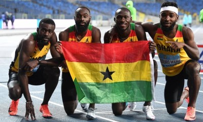 , Ghana's Relay Team disqualified in 4x100m finals; Italy scoops gold, Frederick Nuetei