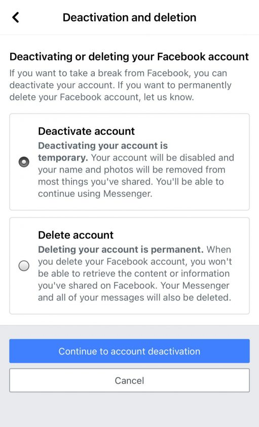 , How to temporarily deactivate your Facebook account, Frederick Nuetei