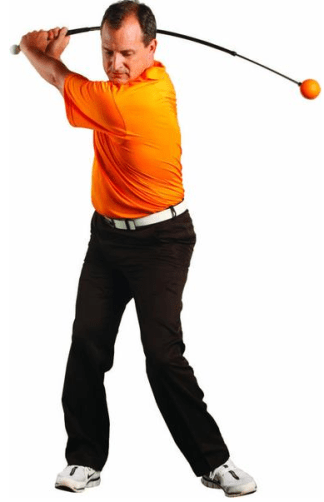 orange whipgolf training aid