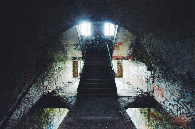 Ruinetrappen in Parc des Oblats