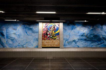 Stadion subway olympic games - Stockholm Sweden