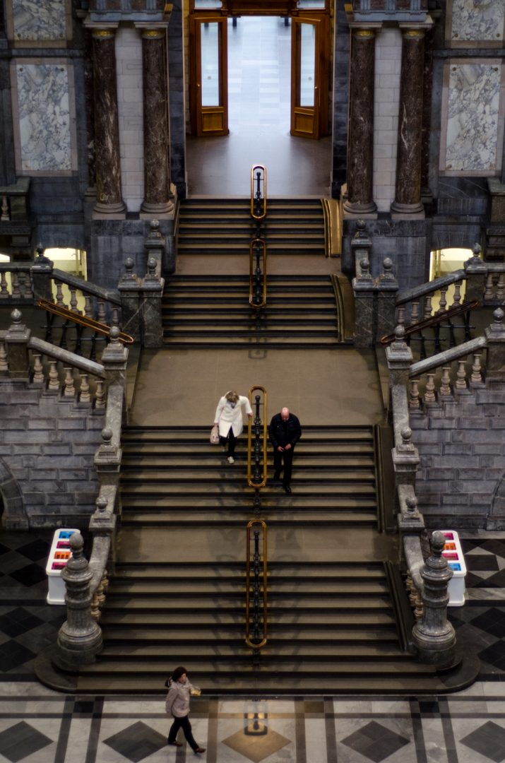 Central stairs - Antwerp Central Station