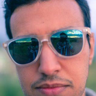 Sunglasses selfie - Bike trip checklist