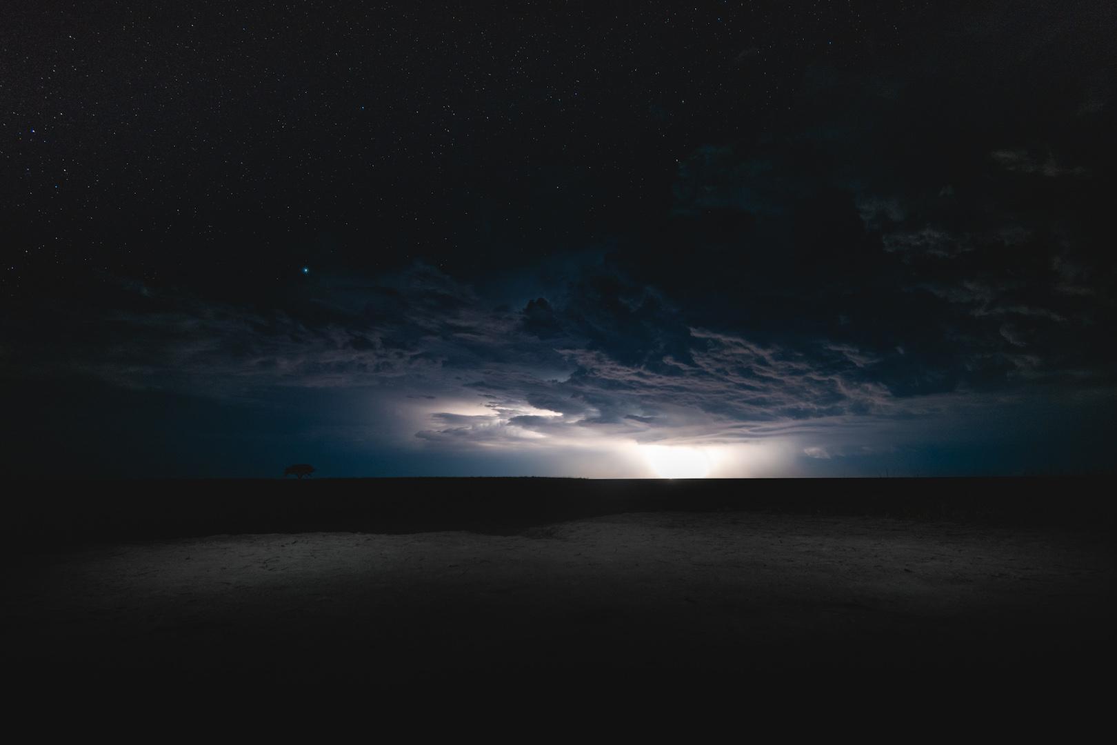 Makgadigadik Saltpans thunderstorm
