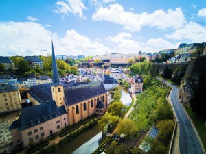 Looking over Grund in Luxembourg