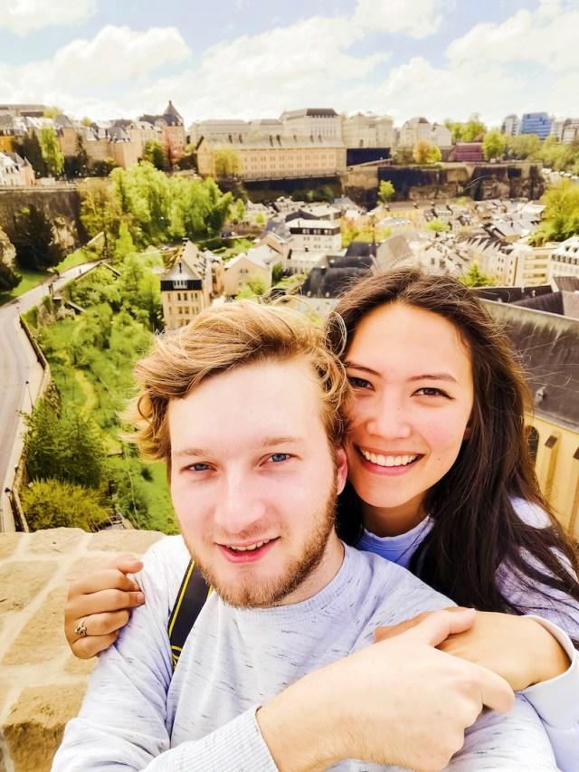 selfies in luxembourg city