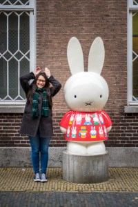 At the Miffy Museum in Utrecht