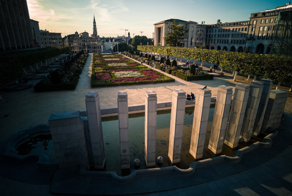 Mont des Arts parc in Brussels