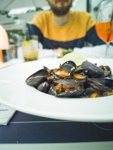 Mussels at Riva in liege