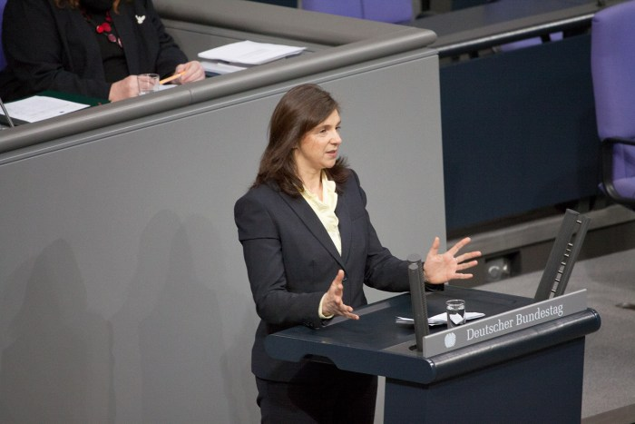 Katring Göring-Eckardt im Bundestag