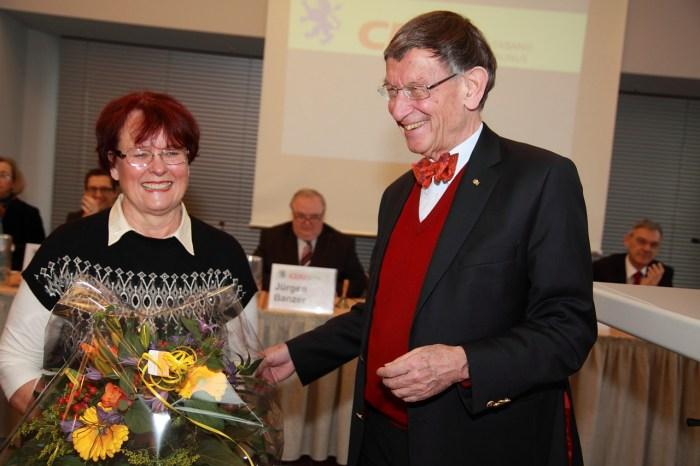 Heinz Riesenhuber mit seiner Ehefrau