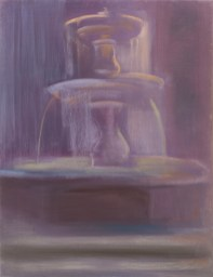 Roman fountain 2015, mixed media on canvas, 115x88cm