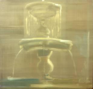 Fontana 1995, mixed media on canvas, 92x112cm
