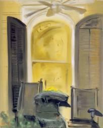 Portico 2000, mixed media on canvas, 93x67cm