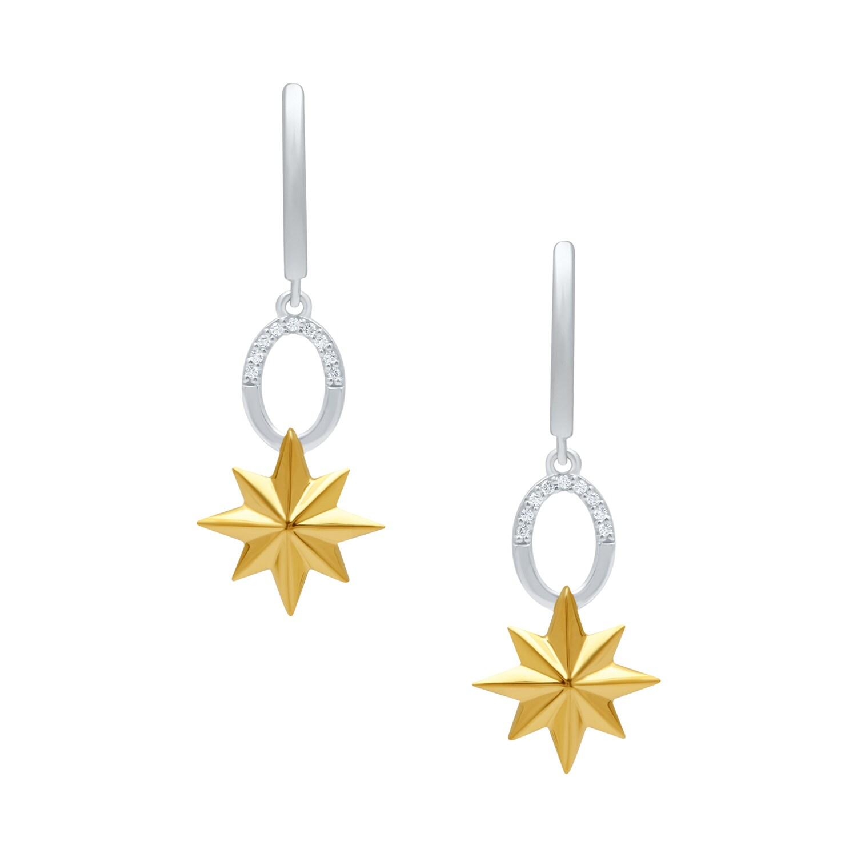 marvels captain marvel diamond earrings