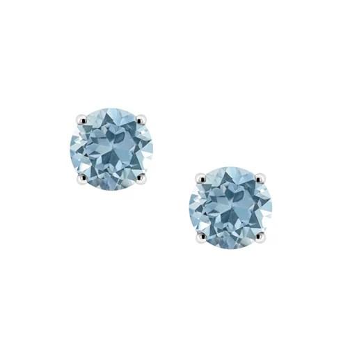Sky Blue Topaz Stud Earrings