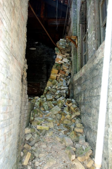 This room once held the mash tuns. Now, it's nothing but rubble.