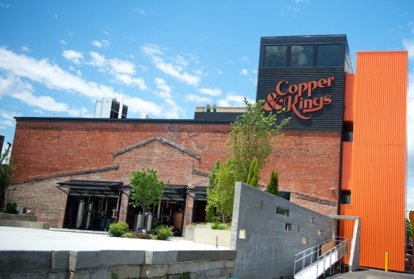 The Copper & Kings Distillery is still under construction, but is now fully operational.