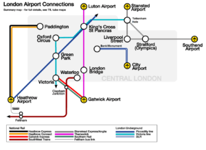 London Airport Links Map