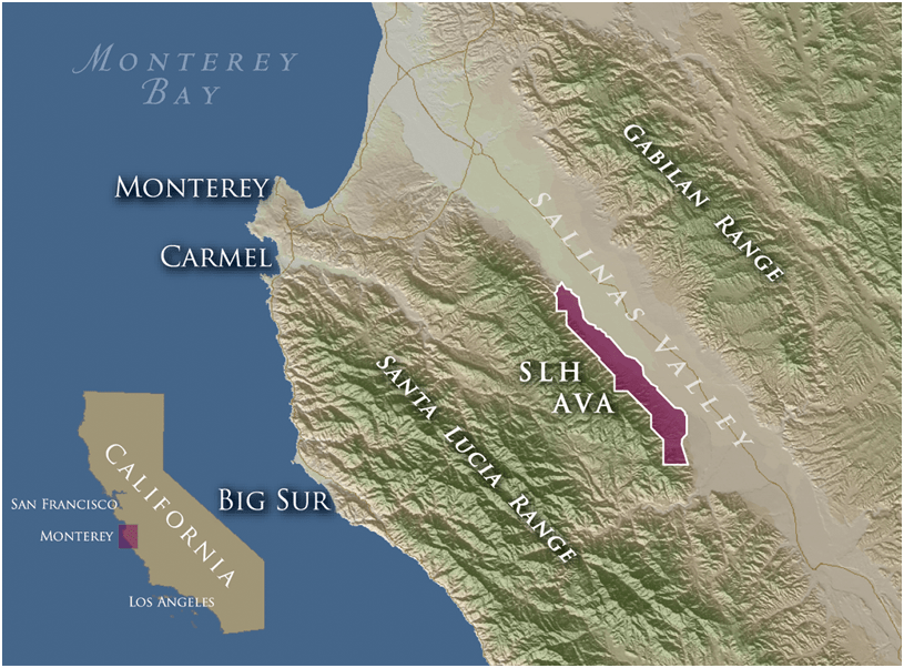 santa lucia highlands map What Everyone Should Know About The Santa Lucia Highlands Ava santa lucia highlands map