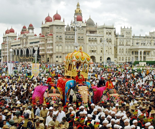 Jambu Savari procession Mysore India