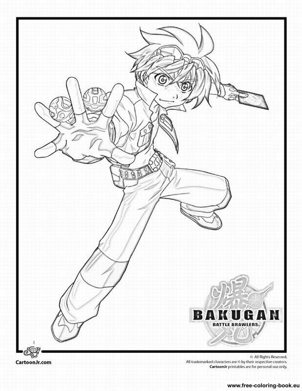 coloring pages bakugan battle brawlers  printable