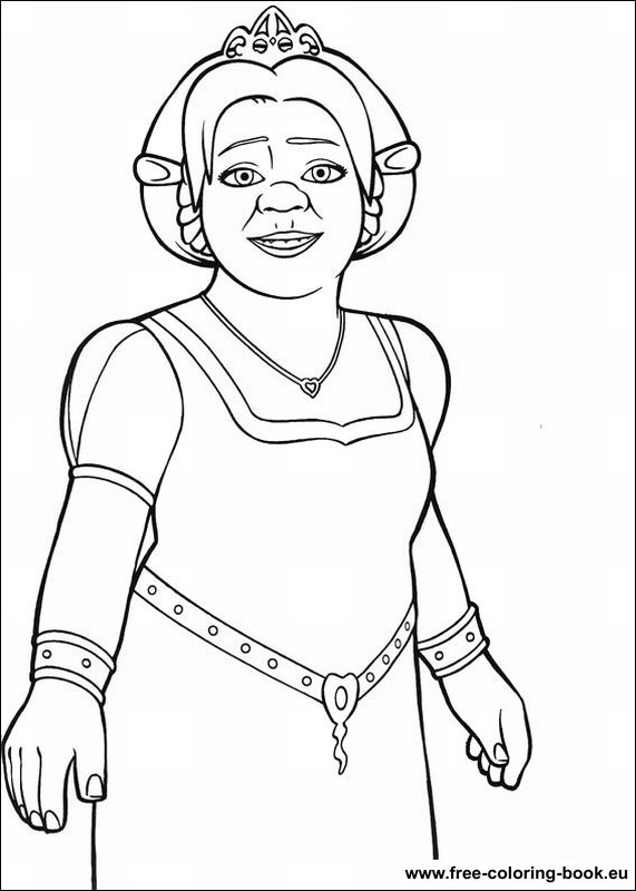 Shrek Printable Coloring Pages - Coloring Home | 800x571