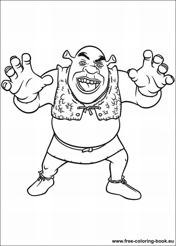 Free Printable Shrek Coloring Pages For Kids | Coloring pages ... | 800x571