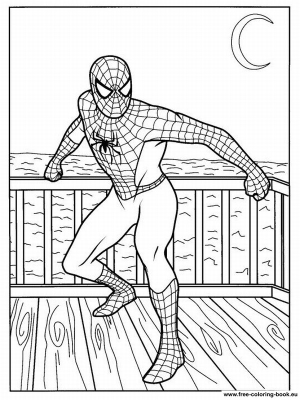 Coloring Pages Spiderman Page 1 Printable Coloring