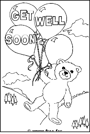 Get Well Soon Colouring Pages Www Free For Kids Com