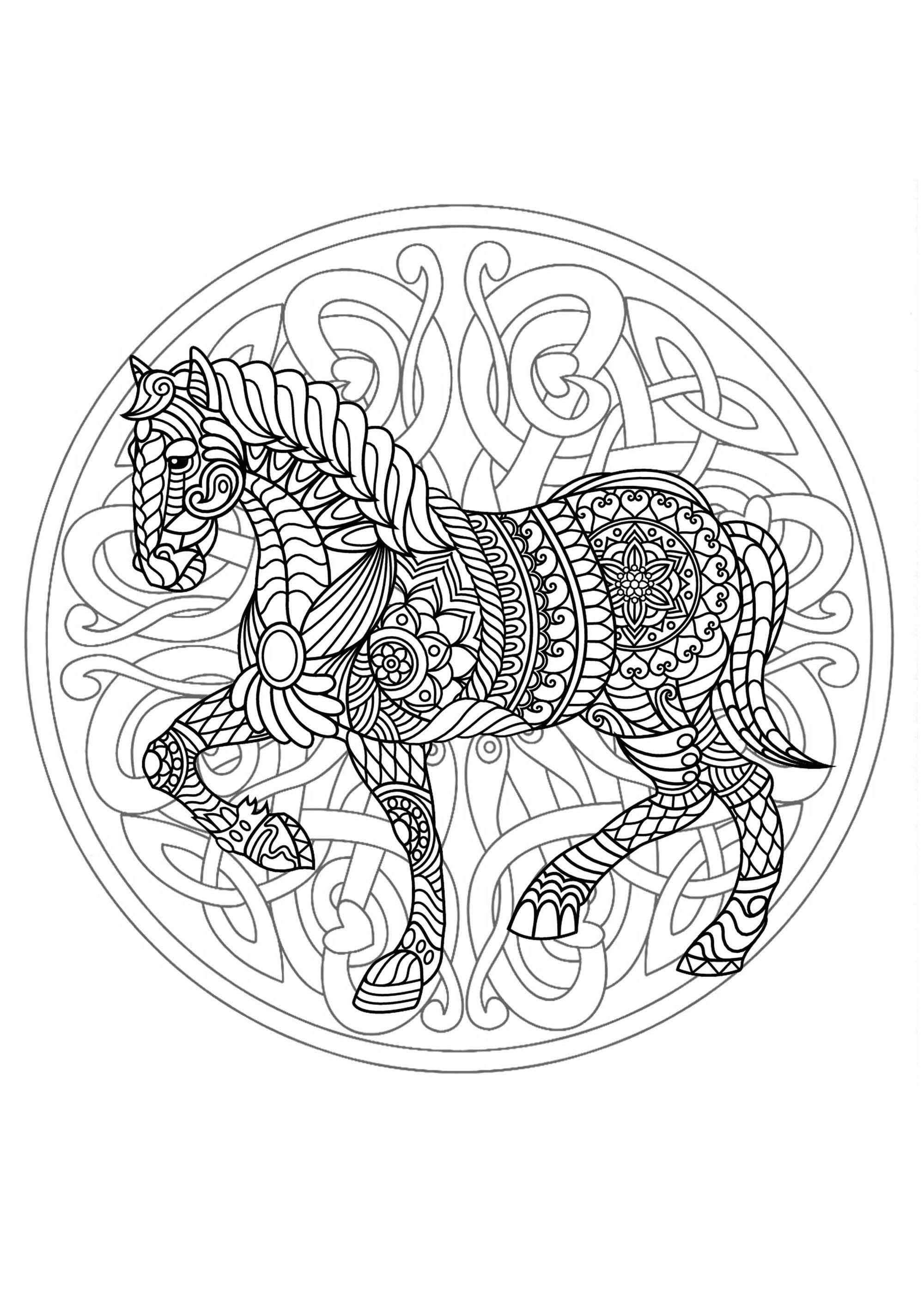 Mandala Horse 3 Difficult Mandalas For Adults 100
