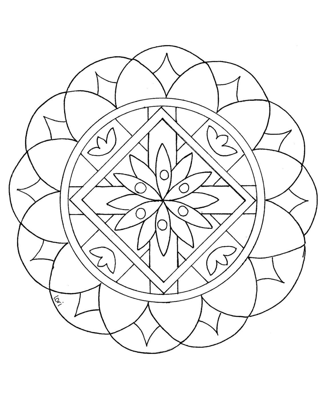 Great looking Mandala - Easy Mandalas for kids - 100% ...   free printable mandala coloring pages for adults easy