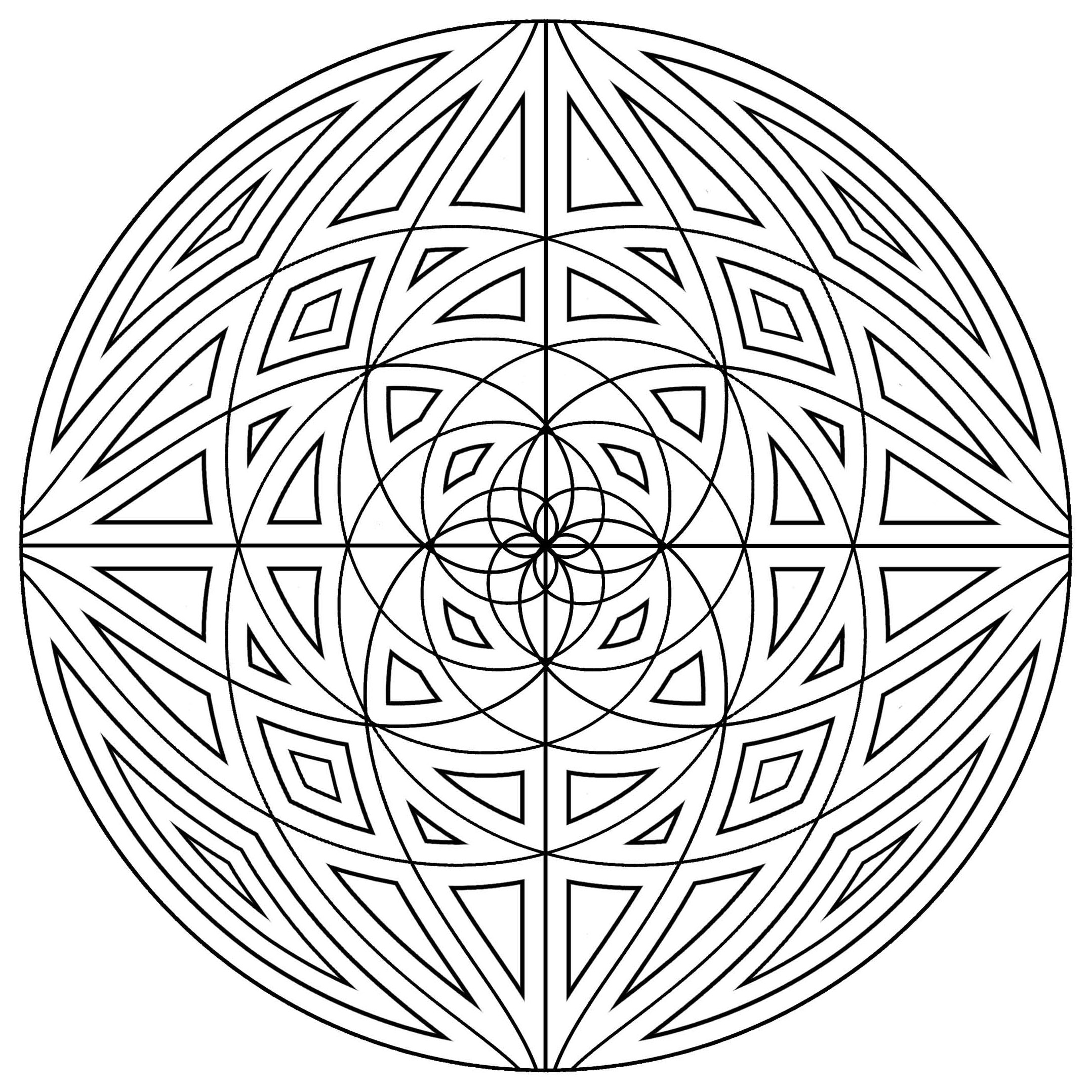 Mandala With Concentric Lines