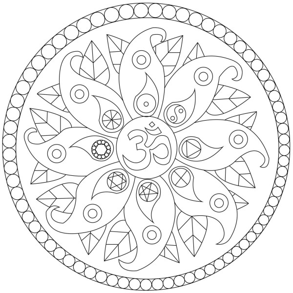 mandala color pages # 4