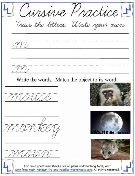 Cursive Worksheets Lowercase M R Handwriting Lessons
