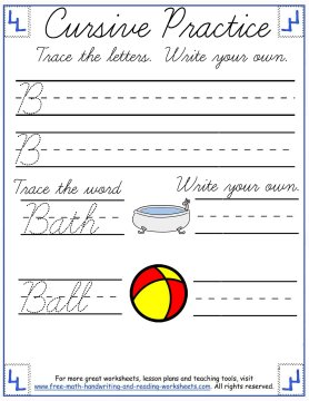 Cursive Writing Worksheets Uppercase Letters A F