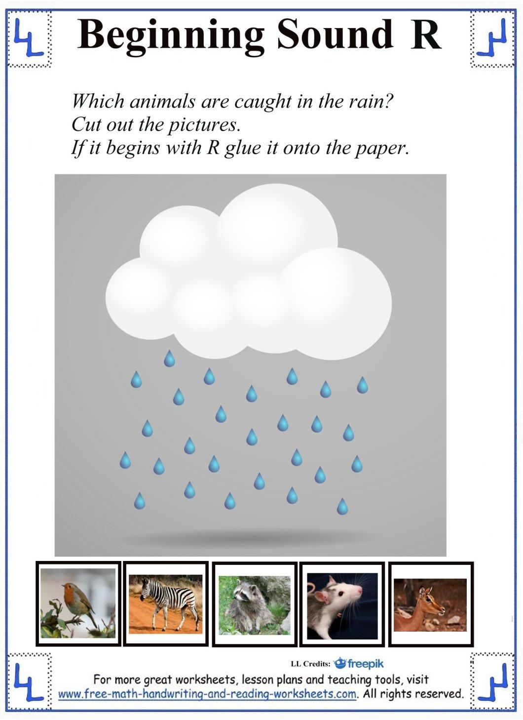 Letter R Worksheet Cut And Paste Creativeletter
