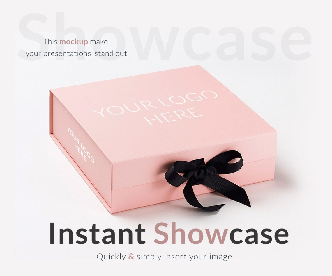 Download Pink Gift Box - Free PSD Mockup | Free Mockup