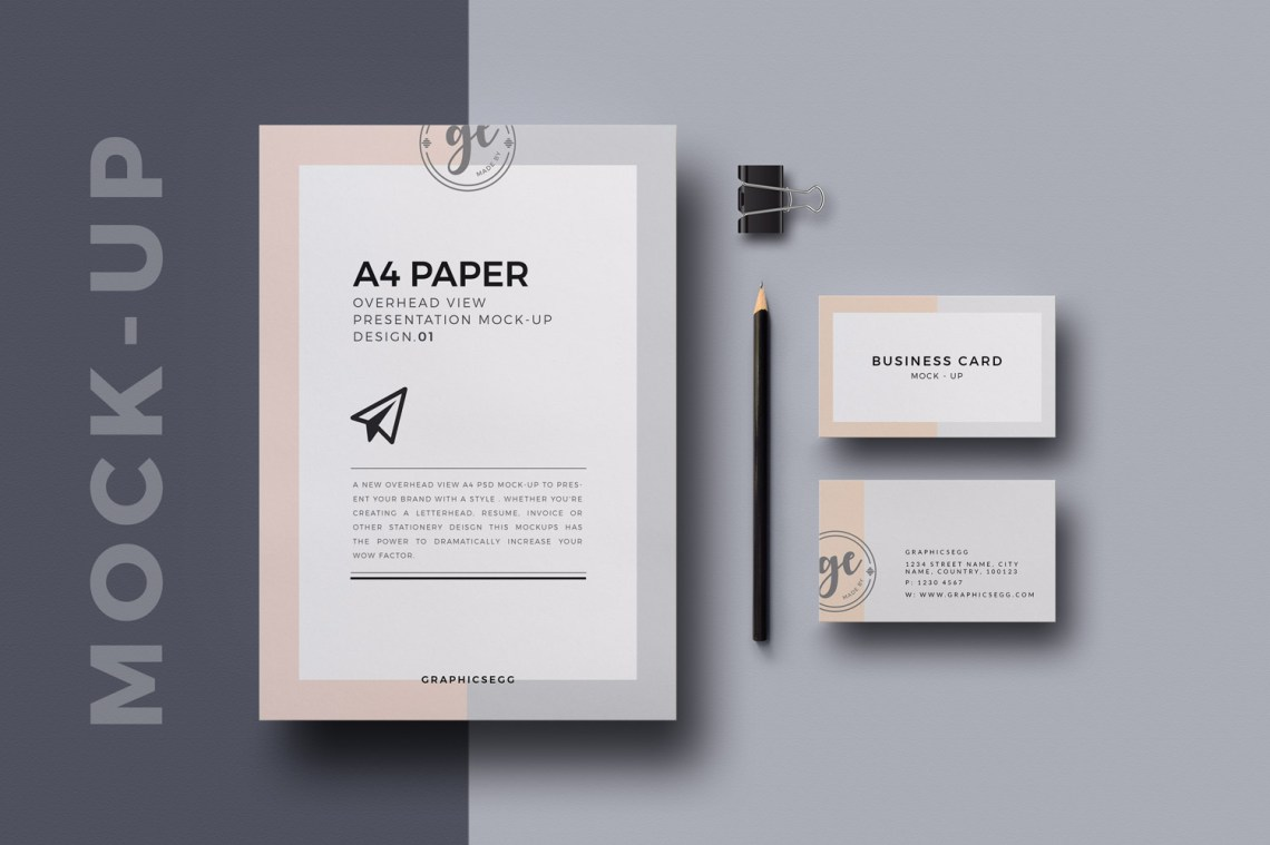 Download A4-Paper-Overhead-View-Mockup | Free Mockup