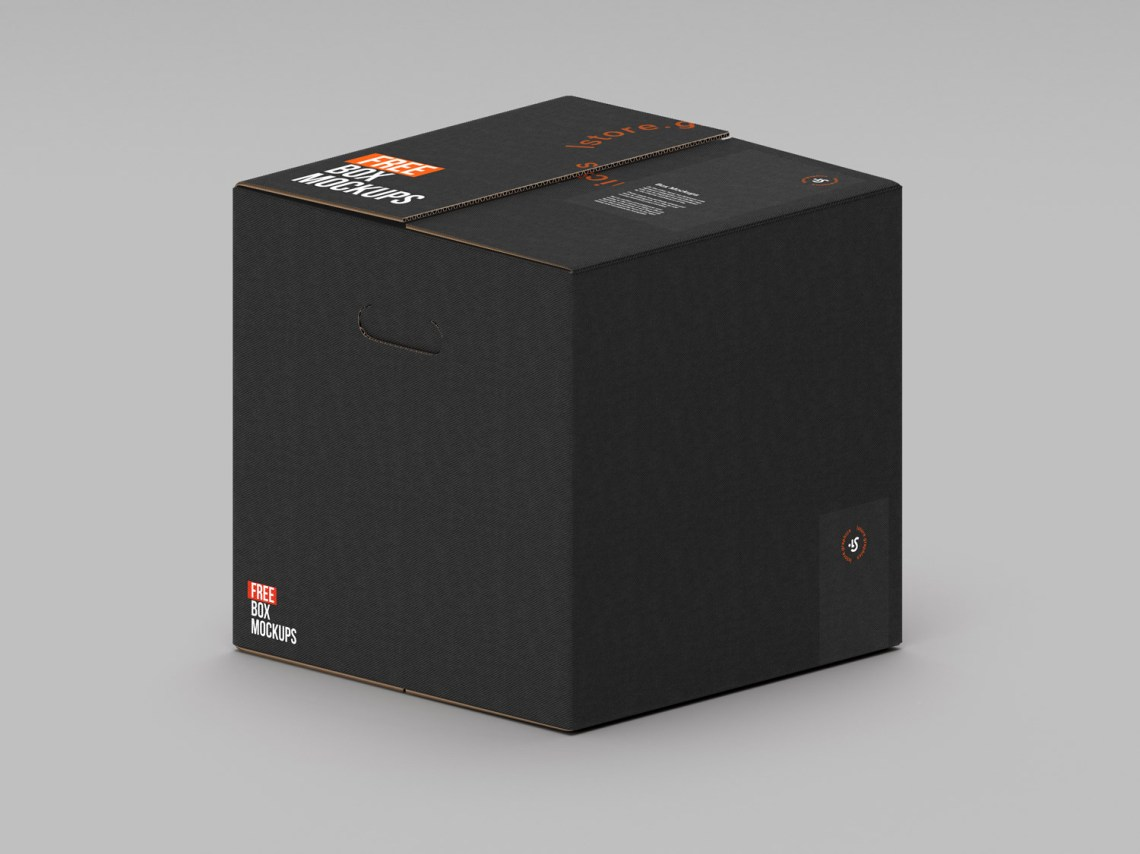 Download 7 PSD Cardboard Box Mockups   Free Mockup