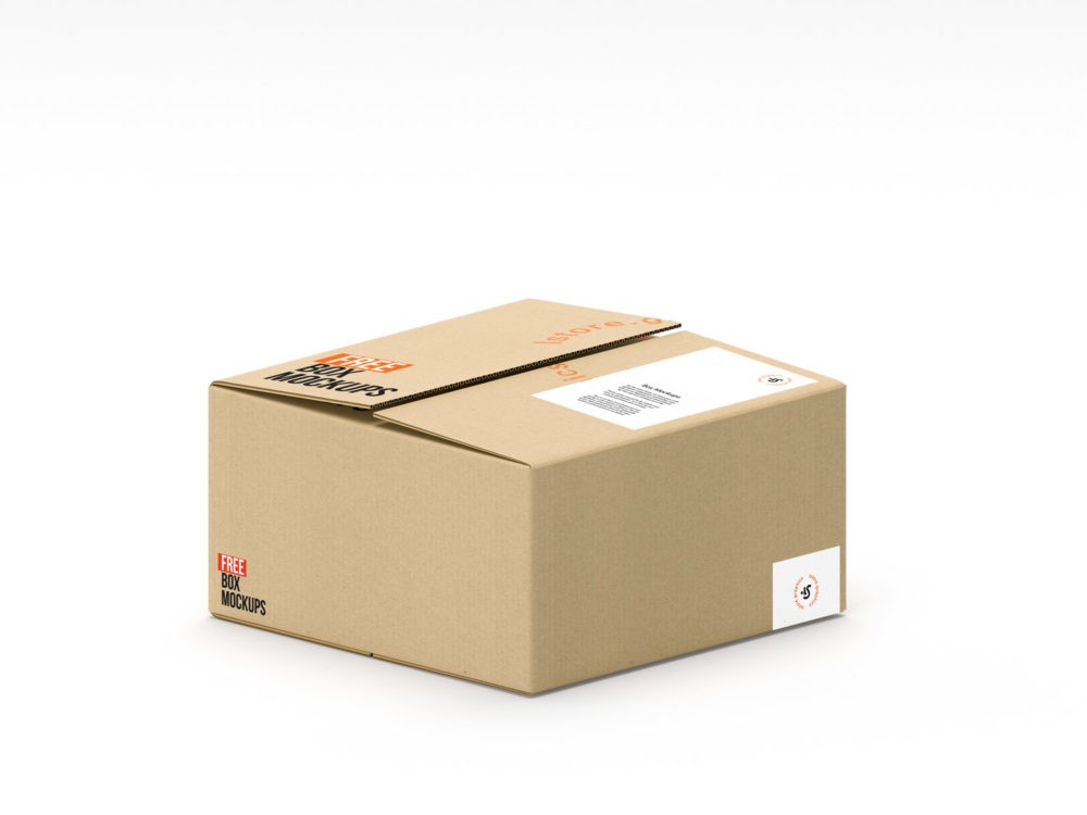 Download Cardboard-Box-Mockup-04   Free Mockup