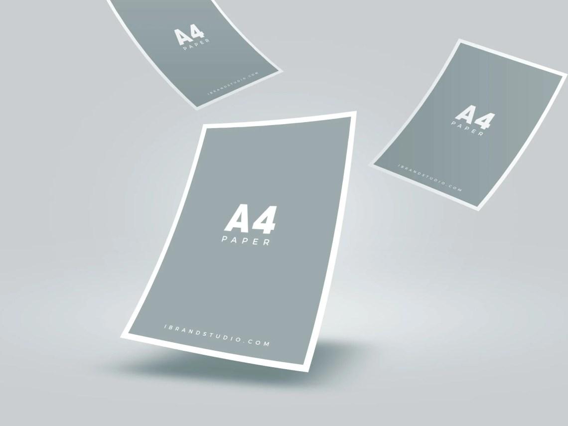 Download Free-Floating-A4-Paper-Mockup-01 | Free Mockup