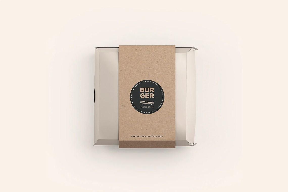 Download Burger Box Package Mockup | Free Mockup