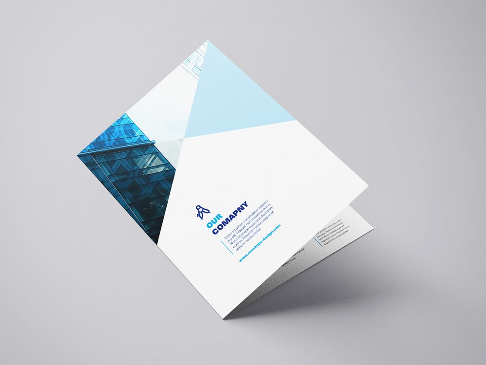 Download Free-A4-Bi-Fold-Mockup-Template-01 | Free Mockup